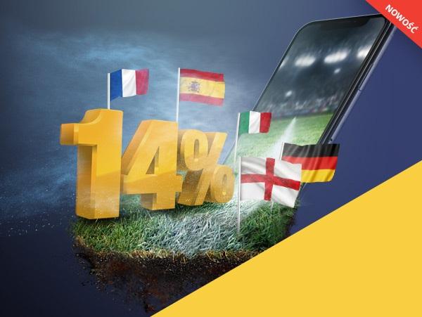 +14% w aplikacji LvBET!