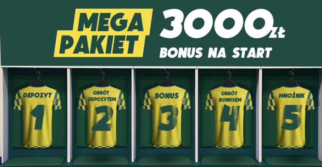 3000 PLN do odebrania jako bonus powitalny w Betfan!